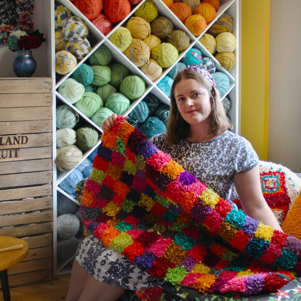 Elspeth Jackson, rag rugs and cushions and