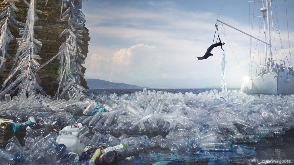 Plastic Ocean by Benjamin Von Wong